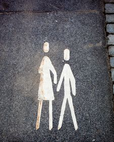Pedestrian Sign Stock Image