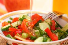 Free Fresh Vegetable Salad Royalty Free Stock Photography - 19931217