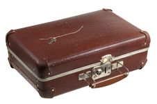 Free Old Scratched Suitcase Royalty Free Stock Photos - 19931418