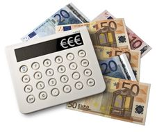 Free Calculator And Euros Stock Images - 19931714