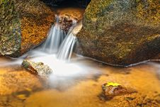 Free Small Natural Waterfall. Royalty Free Stock Photography - 19932167
