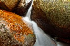 Free Small Natural Waterfall. Royalty Free Stock Photo - 19932205