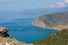 Crimean Mountains And Black Sea Stock Image