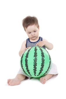Free Boy With A Ball Royalty Free Stock Photo - 19932215