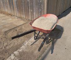 Free Wheelbarrow Full Of Gravel Royalty Free Stock Photos - 19932338