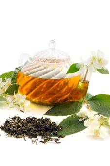 Free Green Tea With Jasmine Stock Photo - 19932830