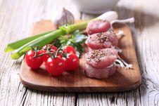 Free Raw Pork Tenderloin And Vegetables Stock Images - 19933314