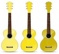 Free Yellow Classical Acoustic Guitar Stock Photography - 19933632