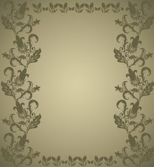 Free Brown Floral Frame Stock Image - 19934391