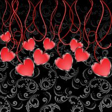 Free Garland Of Hearts Stock Images - 19934414