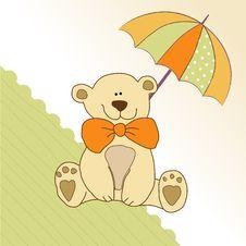 Free Baby Invitation With Teddy Bear Stock Photo - 19935160