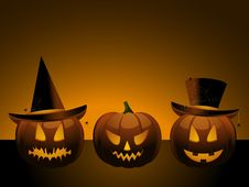 Free Halloween Pumpkins Royalty Free Stock Image - 19935436