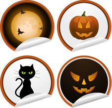 Halloween Stickers Stock Photo
