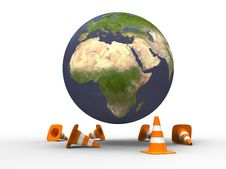 Free Planet Under Construction Stock Photography - 19935812