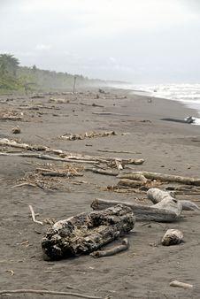 Beach Wreckage Stock Photography