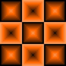 Free Retro Pattern With Squares Stock Photography - 19936152