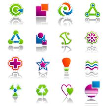 Free Abstract Icon & Symbols Set 01 Stock Photos - 19936223