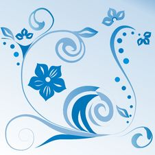 Blue Floral Stock Photography