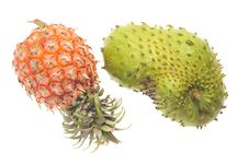 Free Pineapple And Soursop Royalty Free Stock Photos - 19937048