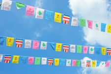 Free Rows Of Celebration Flags Royalty Free Stock Photos - 19937058