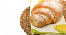 Free Croissant  With Icing Sugar Stock Photos - 19949103