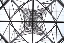 Voltage Electric Pylon Royalty Free Stock Image