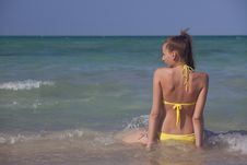 Free Woman At The Beach Stock Photography - 19949802