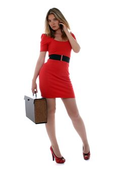 Free Business Woman In Red Stock Images - 19949864