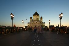Free Night View Of The Christ The Savior Cathedral Royalty Free Stock Photography - 19950157