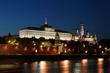 Russia, Moscow, Night View Stock Photo