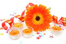 Free Flower And Candles Stock Photos - 19950273