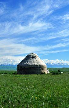Free A Khazak Yurt Royalty Free Stock Photos - 19950358