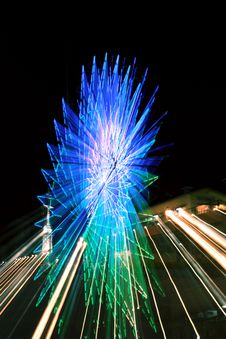 Free Abstract Ferris Wheel Blue Zoom Stock Image - 19950511