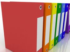 Folders For Papers Royalty Free Stock Image