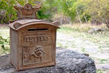 Free Ornate Rusty Outdoor Mailbox Royalty Free Stock Photography - 19951457