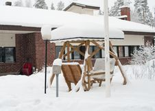 Free Winter Cottage And Pergola  In Finland Stock Photos - 19951573