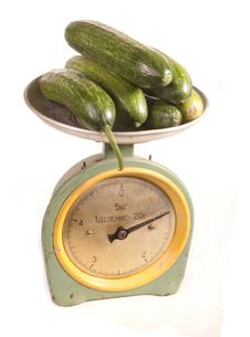 Free Cucumbers On Scales Royalty Free Stock Images - 19951579