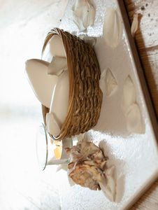 White Soaps With Seashell Stock Image