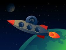 Free Space Background Royalty Free Stock Photos - 19951758