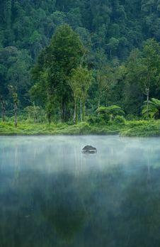 Free Misty Morning Landscape Stock Photo - 19951990