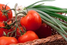 Free Red Tomatoes In A Basket Stock Photography - 19952322