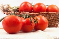 Free Red Tomatoes In A Basket Royalty Free Stock Images - 19952549