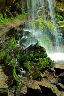 Free Base Of A Waterfall Royalty Free Stock Photos - 19952558