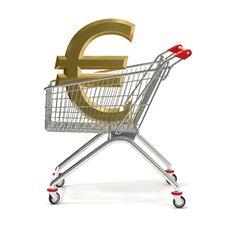 Free Shopping Cart Euro Royalty Free Stock Photo - 19952665