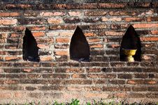 Free An Old Brick Wall2 Royalty Free Stock Photography - 19952967