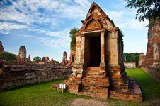 Free Wat Mahathat Of Ayutthaya2 Royalty Free Stock Photography - 19953027
