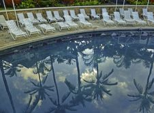 Free Empty Chairs, Poolside Stock Images - 19954564