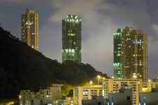 Free Hong Kong Sky At Night Royalty Free Stock Photos - 19954618