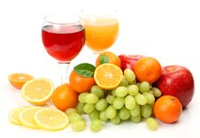 Free Fresh Fruit And Juice Royalty Free Stock Photo - 19955315