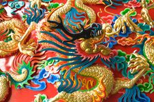 Free Chinese Dragon Statue Royalty Free Stock Photography - 19955657